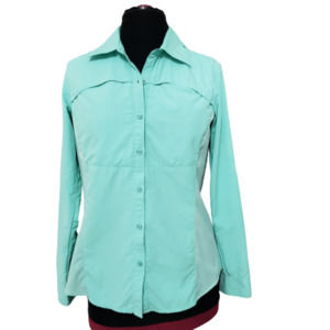 Ascend Mint Green Long Sleeves Outdoor Top Sz M